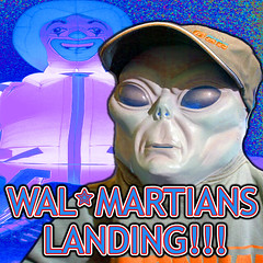 Wal-Martians Landing.. (craigless64) Tags: life music art collage digital photoshop creativity design artist song unique album irony craig hop tune morrison quip cmor