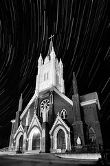 Old Church in Virginia City, NV (liquid in plastic) Tags: church night stars photography star 1 exposure photographer nevada trails hour 28 reno starstreaks virginacity dannewton nikond300 tokina1116mm