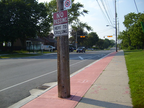 New Royal York Bikelanes at Coney Road