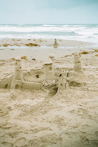 South Padre Island sand castle