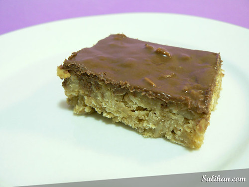 No Bake Chocolate Oat Bar