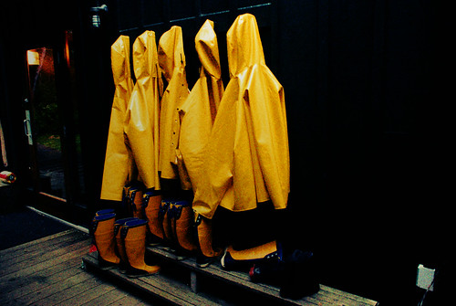 Yellow raincoats