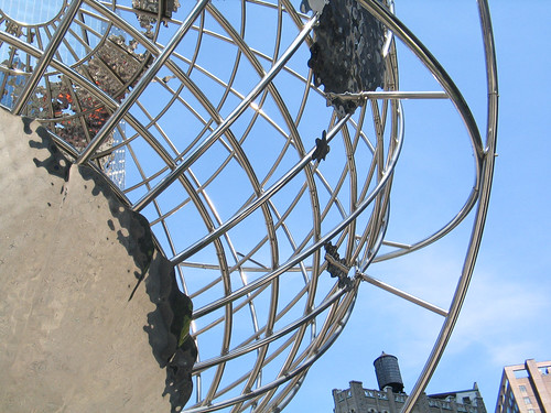 Metal Globe at Columbus Circle