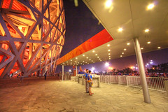 after the rehearsal (helen sotiriadis) Tags: china architecture published beijing olympics birdsnest nationalstadium toomanytribbles