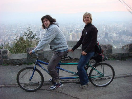 Ricardo and I on the tandem. Santiago, Chile.