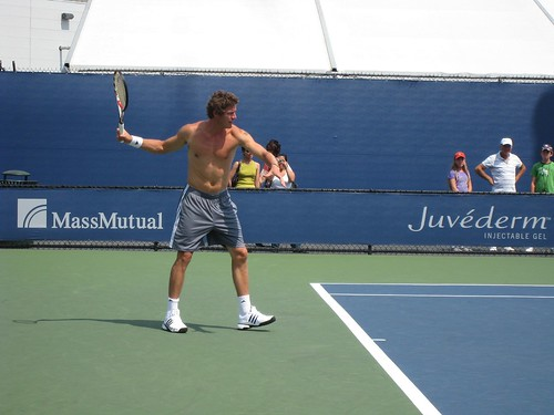 Marat Safin warming-up