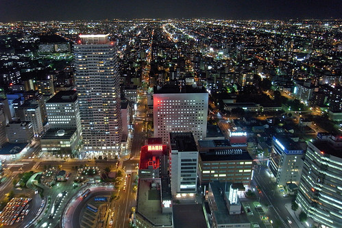 Sapporo North night view (PhotoshopEdited)