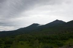 十勝連峰北部の山並み