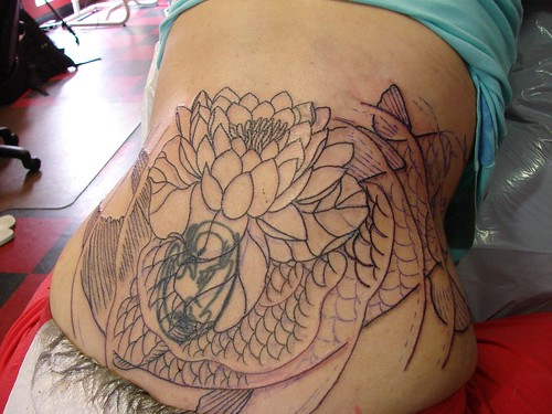 koy fish tattoo. Koi Fish Tattoo represents the