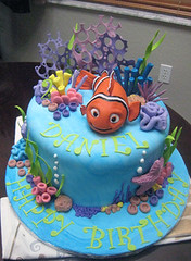 Nemo birthday cake (sharoncakes) Tags: fish nemo clownfish caketopper fishcake fondant seacake sugarpaste childrenscake nemobirthdaycake