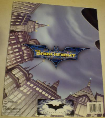 Back of The Dark Knight folder #2