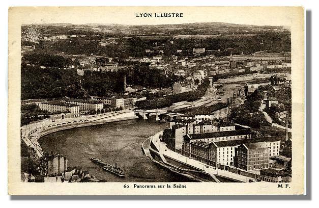 60 - LYON - Panorama sur la Saône