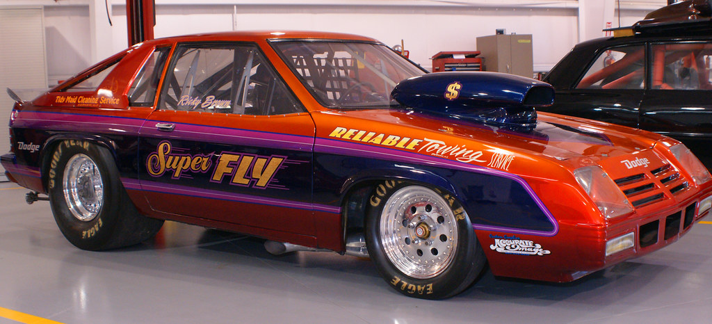 Picture of drag racing car from 1983-Dodge Charger