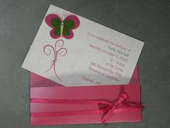 Pink & Green Butterfly Birthday Invitation2 (moonk_97) Tags: birthday pink green butterfly girly birthdayparty invitation invite