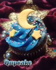 Ramadan Cupcake ({ Qupcake }) Tags: blue food moon black color colour cute yellow cake night stars star yummy nice yum cupcake ramadan qatar         yumo          qupcake  sprinkils