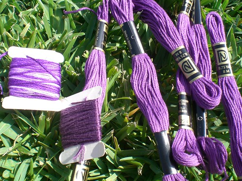 Purple embroidery floss
