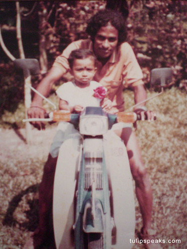 ammu on bike