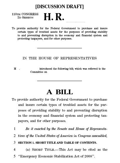 proposed bill