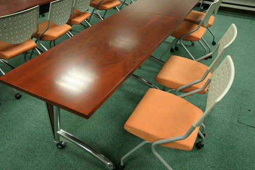 Movable tables and chairs
