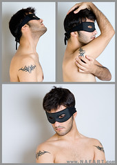 The Mask of ME (CaesarPower) Tags: boy shirtless portrait man guy tattoo self mask arab topless zoro arabian riyadh nayef caesarpower