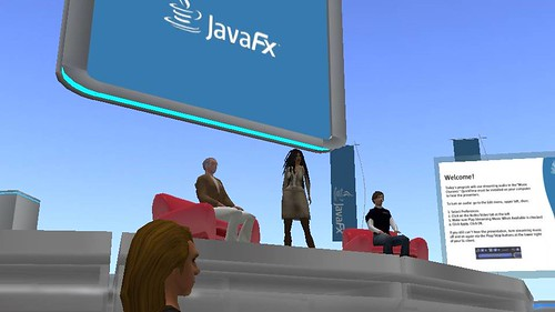 JavaFX, Danny Coward In Second Life