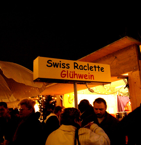 Raclette and Glühwein sign