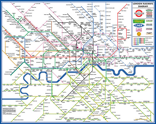 Diagrammatic Map of London's