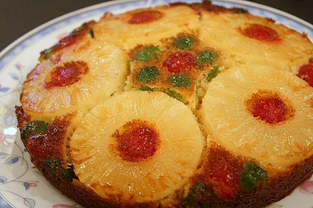 Nigella's pineapple upside down cake