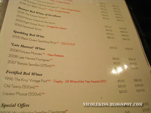 peter lehmann wine list