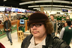 Lens Testing, Part 6 (revengingangel (Back on 6/1/13)) Tags: nyc newyorkcity ny newyork me hat canon hair lens glasses fisheye sexyhat canonef15mmf28fisheye canonef15mmf28fisheyelens ef15mmf28fisheyelens