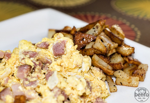 Scrambled Eggs & Browned Potatoes Breakfast