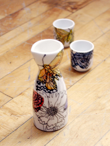 Butterfly sake set  - Sold!