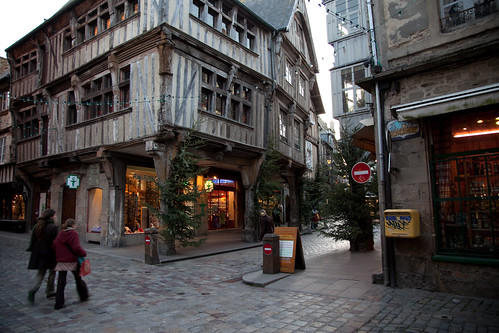 The old city centre of Dinan. Photo: Leo Laporte