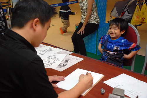Caricature live sketching for Marina Square Day 2 - 4a