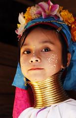 Karen (Rodd Cameron) Tags: girl neck thailand long karen burmese thanaka padaung kayan longneckkaren