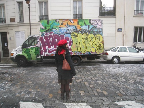 Laura leads us through the Parisian streets.