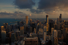 Chicago through the glass ! (marco rubini) Tags: sunset usa chicago landscape tramonto soe supershot theunforgettablepictures goldstaraward veterinarifotografi febbraio2011challengewinnercontest