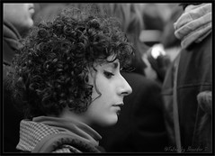 My thoughts are not yours..... (Mix Master B) Tags: bw woman canon streetphotography curlyhair ef70200mmf28lusm 40d canon40d brandonswartz mixmasterb