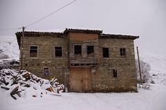 (slampoud) Tags: house snow architecture greece balkans prespes agiosgermanos