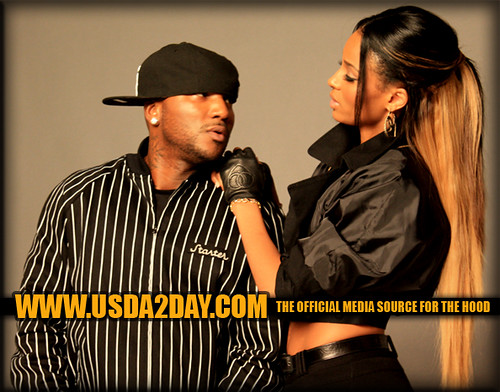 ciara & young jeezy on the set of never ever