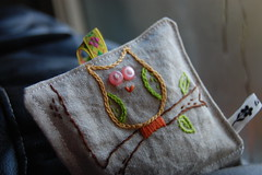 Owl Sachet (Tiny House) Tags: sewing etsy