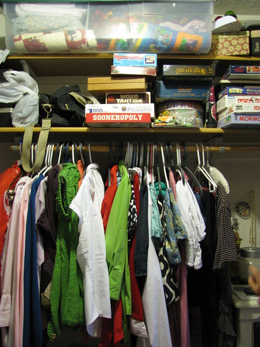 Clutter Diet Master Closet Before