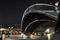 Calatrava (anarchitecte) Tags: bridge venice architecture night canal grande nacht calatrava pont venise nuit venedig brucke d90 nikond90