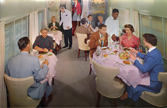 Dining In Luxury - Union Pacific Railroad Post Card, 1957