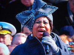 Aretha Sings, But Not the Blues (bo mackison) Tags: singing 2009 inauguration arethafranklin abcnews aretha queenofsoul inauguration2009 inaugurationday2009