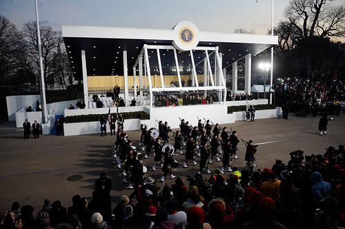 Inauguration Day 2009: The Obamas at the reviewing stand by USA TODAY.
