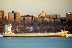 FLINTEREEMS Cargo Ship on the Hudson River, New York City (jag9889) Tags: city nyc ny newyork boat ship harlem manhattan cargo transportation hudsonriver 2009 barge flinter y2009 flintereems jag9889