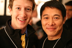Mark Zuckerberg, founder Facebook, and Jet Li,...