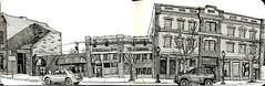 bozeman main street # 15 (paul heaston) Tags: blackandwhite art moleskine buildings artwork mainstreet montana bozeman downtown drawing sketching historic penandink