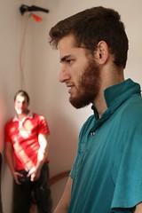 IMG_9290 (naamanus) Tags: red israel telaviv dancing turquoise january  2009      canoneos400ddigital clipa